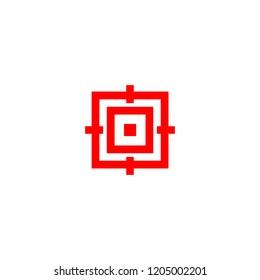 Traget crosshair vector logo icon minimalist flat
