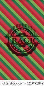 Tragic christmas emblem.