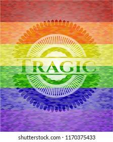 Tragic lgbt colors emblem