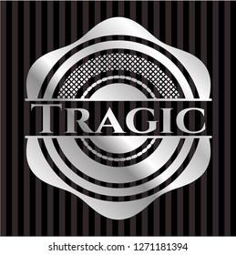 Tragic silver emblem or badge