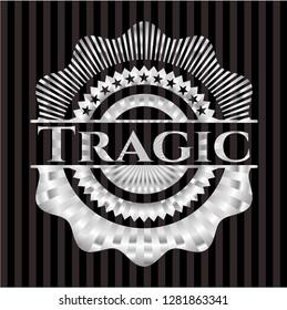 Tragic silver shiny emblem