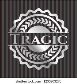 Tragic silvery badge or emblem