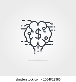 Traiding Brain Icon