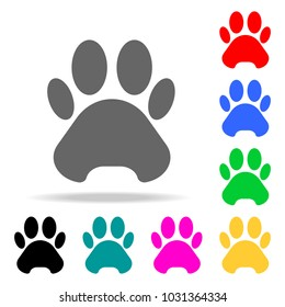 trail of the beast icon. Elements in multi colored icons for mobile concept and web apps. Icons for website design and development, app development on white background