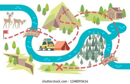 Imagenes Fotos De Stock Y Vectores Sobre Mapa Campamentos