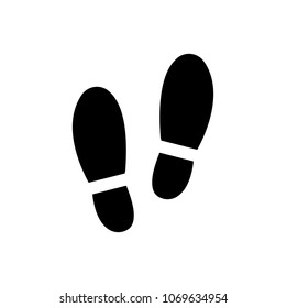 Trail shoes. Foot print icon vector illustration on white background..