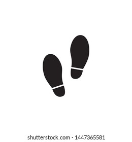 Trail vector icon on white. Shoes Footsteps