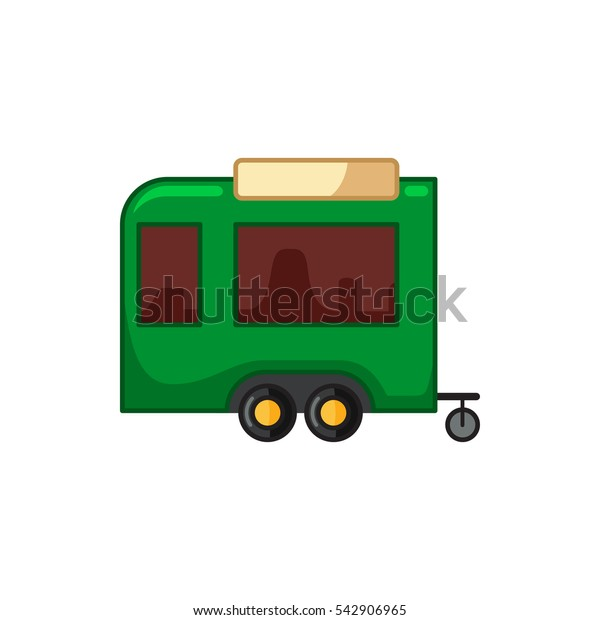 trailer icon illustration isolated vector sign symbol
