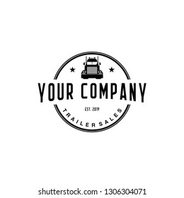 trailer truck logo design
