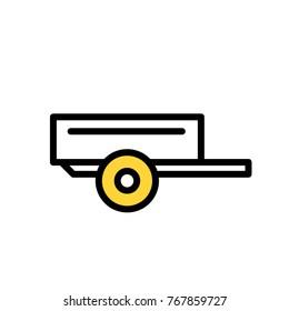 trailer vector icon