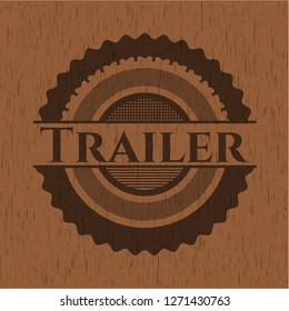 Trailer wood emblem. Retro
