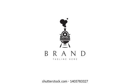 Train abstract black vector logo design image