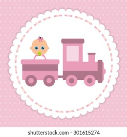 train and baby girl