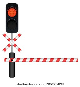 Train barrier vector design illustration isolated on white background
