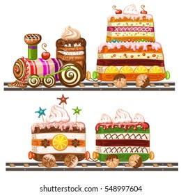 Awesome Train Cake Images Stock Photos Vectors Shutterstock Funny Birthday Cards Online Ioscodamsfinfo