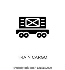 Train cargo icon. Train cargo symbol design from Industry collection. Simple element vector illustration on white background.