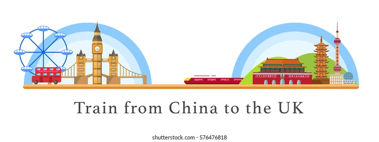 Train from China to the UK, east-west train