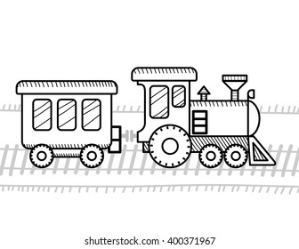 Train coloring book for kids