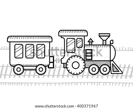 Train Coloring Book Kids Stock Vector (Royalty Free) 400371967 ...