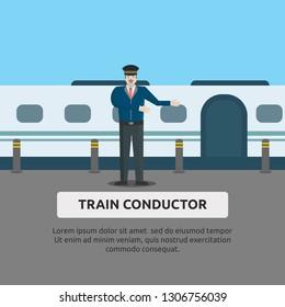 Train Conductor - Illustration Design