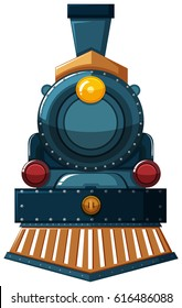 Train design on white background illustration