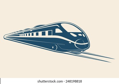 TRAIN flat design illustration vector