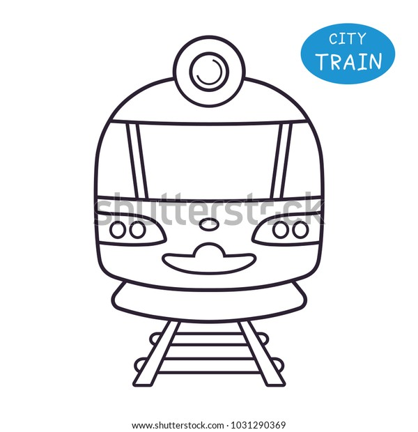 Train Front View Line Icon Stock Vector (Royalty Free