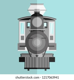 train front view vector illustration