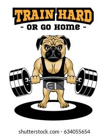 Train Hard Or Go Home. Motivational Quote for Fitness. Creative sport poster concept. This illustration can be used as a print on T-shirts