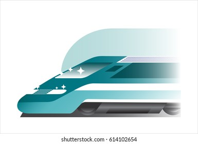 Train icon in flat gradient style, vector illustration