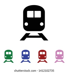 train icon, flat  vector illustration