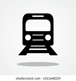 Train Icon with Gray Shadow