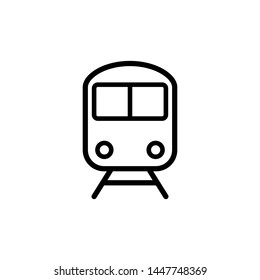 train icon, illustration front view design template