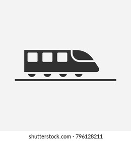 Train icon illustration isolated vector sign symbol
