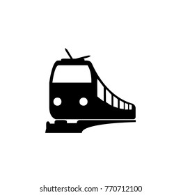 Train icon. Illustration of transport elements. Premium quality graphic design icon. Simple icon for websites, web design, mobile app, info graphics on white background