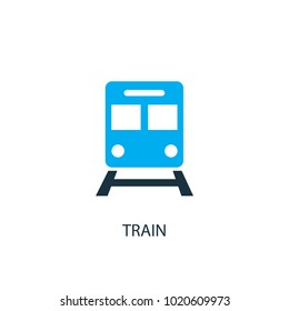 Train icon. Logo element illustration. Train symbol design from 2 colored collection. Simple Train concept. Can be used in web and mobile.