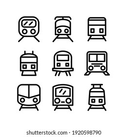 train icon or logo isolated sign symbol vector illustration - Collection of high quality black style vector icons
