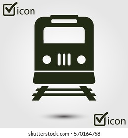 Train icon. Metro symbol. Railway station sign.