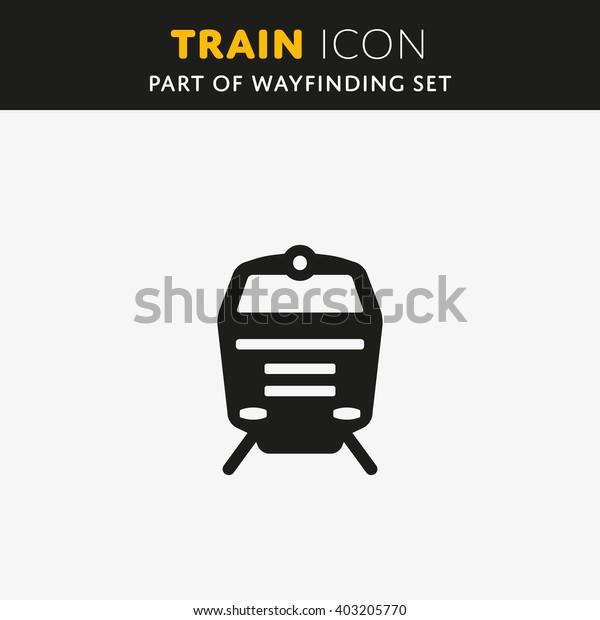 Train icon. Railway Sign. Transport symbol Vector illustration.