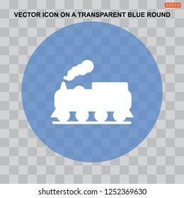 Train icon,  railway  Vector flat design style