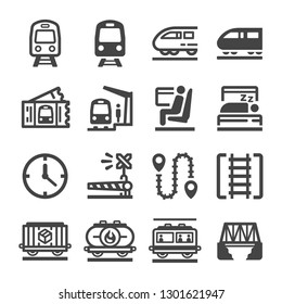 train icon set,vector and illustration