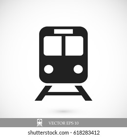 train icon, stock vector illustration flat design style