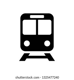 Train icon symbol vector. on white background