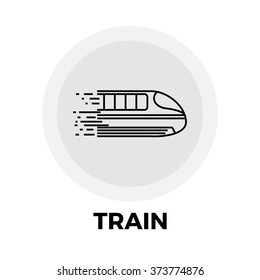 Train icon vector. Flat icon isolated on the white background. Vector illustration.