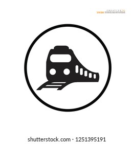 Train icon. Train vector illustration.