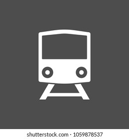 Train icon, vector illustration. Flat design.