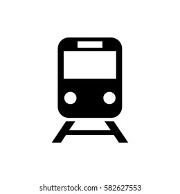 train icon, vector illustration. Flat design eps 10