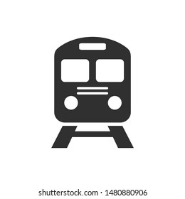 train icon vector sign isolated on white background. train symbol template color editable
