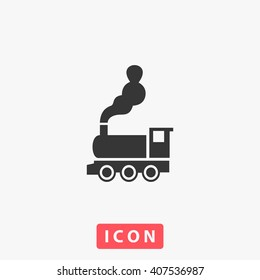 train Icon Vector. Simple flat symbol. Perfect Black pictogram illustration on white background.