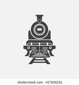 train icon vector, solid logo illustration, pictogram isolated on white